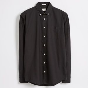 Frank + Oak Black Jasper Oxford Button-Down Shirt